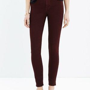 "Madewell 9"" high-riser skinny jeans"